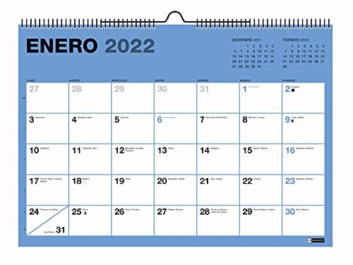 Miquelrius - Calendario Pared 2021-2022, 18 Meses (Julio 2021 - Diciembre 2022), Tamaño A4 29.7 x 21 cm, Chromat