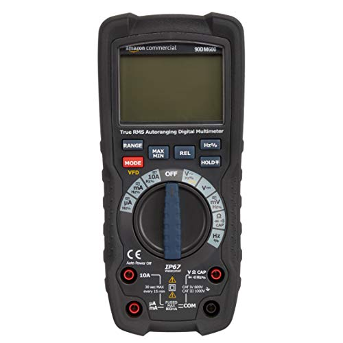 AmazonCommercial – Kompaktes Digitalmultimeter, 6.000 Counts, IP67, True RMS, CAT IV 600 V
