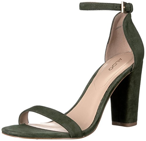 ALDO Women's Myly Dress Sandal, Forest Green, 11 B US