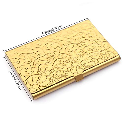 Gold Embossed Damask Business Card Case