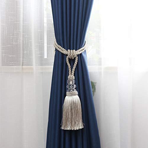 N/A Deko Vorhang Quaste Raffhalter Vorhang Halterung Raffhalter Zubehör Quaste Raffhalter Vorhang Dekoration Zubehör, beige, Beige