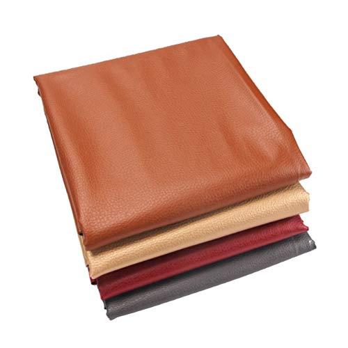 SSYBDUAN Möbelstoff Premium Bezugsstoff Zum Kunstleder Stoff Kunstleder Vinyl Leder Stoff Material Kleidung Schneiderei Polster ? für die Herstellung von Kunsthandwerk Und Dekoration (Color : Red)