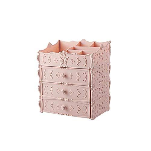 XZJJZ Cosmética Caja de Almacenamiento con Cubierta de Polvo de Las estanterías de los hogares de cajón de plástico a Prueba de Polvo del Maquillaje de Almacenamiento (Color : A)