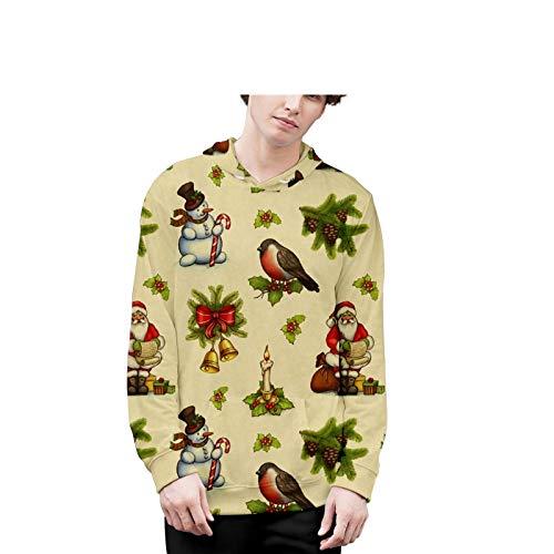 Mr.BaoLong&Miss.GO Otoño E Invierno Navidad Ropa para Padres E Hijos Ropa Navideña Pareja Ropa Navideña Suéter Navideño Sudadera con Capucha
