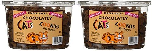 2 Pkgs. Trader Joe's Chocolatey Cat Cookies for People Net Wt. 16oz (1lb) 454g
