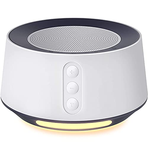 Fitniv White Noise Machine with Adjustable Baby Night Light for Sleeping, 14 High Fidelity Sleep Machine Soundtracks, Timer and Memory Feature, Plug in, Sound Machine for Baby, Adults