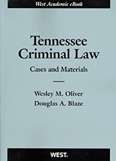 Tennessee Criminal Law: Cases and Materials
