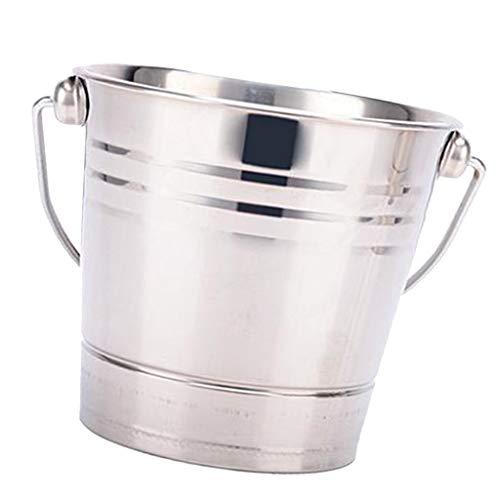 Cubo de hielo de acero inoxidable para bar, restaurante, champán, vino, cubeta enfriador (color: 2,8 L)
