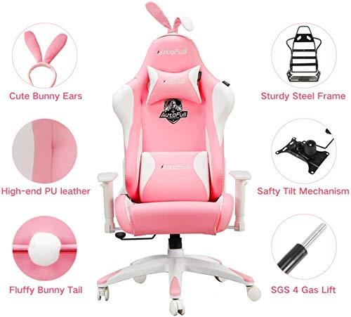 AutoFull Pink Gaming Stuhl für Mädchen Bild 2*