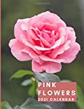 Pink Flowers 2021 Wall Calendar: January to December | One Year Photo Calendar Schedule Organizer Planner for 12 Months | With Notes and To Do Columns ... Present for Colleague Coworker Manager Friend