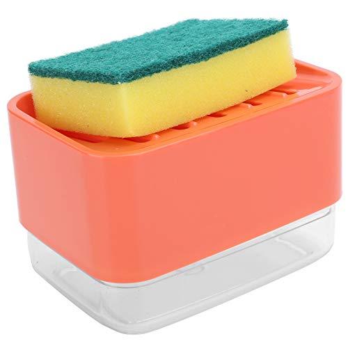Prasa do pompy mydła dozownik mydła w płynie gąbka uchwyt na płyn małe wymiary do zlewu kuchennego blat (czerwony)