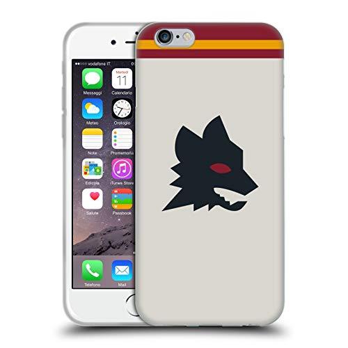 Head Case Designs Licenza Ufficiale AS Roma Fuori Casa 2020/21 Kit Crest Cover in Morbido Gel Compatibile con Apple iPhone 6 / iPhone 6s