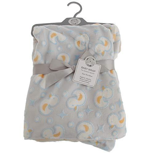Snuggle Baby - Châle DUCK - Bébé (75 cm x 100 cm) (Gris/Bleu/Jaune)