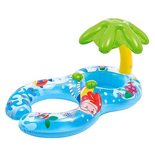 Poltrona Gonfiabile Piscina, Nuoto Float Row Schienale Nuotata del Materassini Gonfiabili per Piscina Gonfiabile Piscina Sedia Giocattolo per Adulti Bambini (Blu)