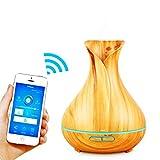 Diffusore alexa 400ml diffusore di aromi, diffusore aromi compatibile con Alexa,Diffusore di essenze con google home, Purificatore d'Aria,Umidificatore Ultrasuoni,Diffusore smart Wifi 2.4 Ghz