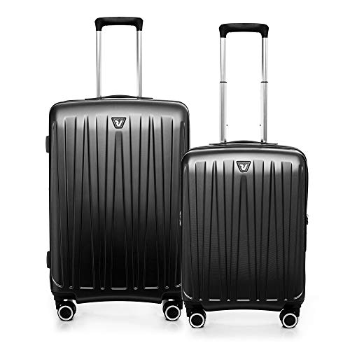 RONCATO Antares Set 2 maletas rígidas ampliables (medio + cabina) 4 ruedas tsa Negro