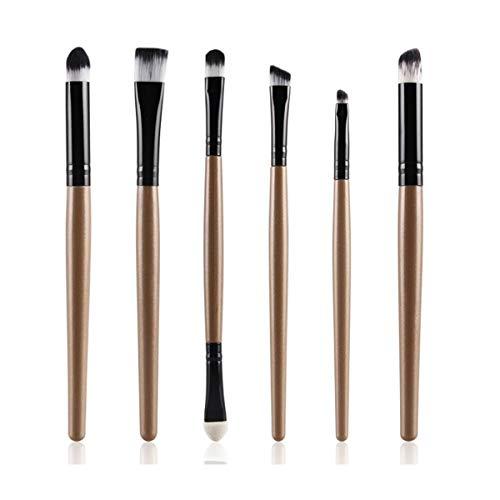 HSAGDAS Ensemble de pinceaux de maquillage professionnel pour les yeux Eyeliner fard à paupières, sourcils, lèvres, cosmétiques, cosmétiques de maquillage, 1/6 pièces