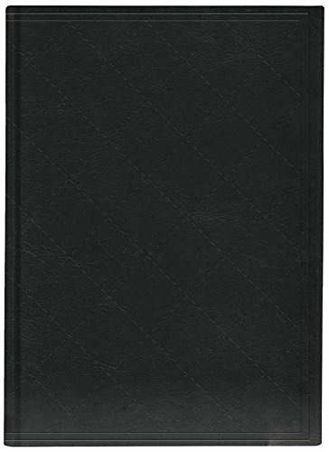 Pierre Belvedere Extra Large Notebook with Padded Embossed Cover, Quilt Stitch Black (7706500)