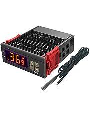 Controlador de temperatura AC 110V-220V, termostato digital multiusos STC-1000 con sonda de sensor de temperatura, pantalla centígrada y Fahrenheit, calor/frío