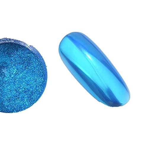 Fashion Nagelpuder Schimmer Nagel Puder Chrom Pigment Nail Glitter Chamäleon Pulver Titan Nagelspiegel Glänzendes Glänzendes Party-Nagelpuder Nail Art Make Up 7 Farben Nagelkunst