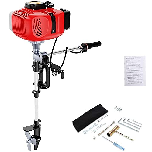 Anbull 2 Stroke Boat Motor, 3.6 HP Boat Engine Outboard Motor with Air Cooling System