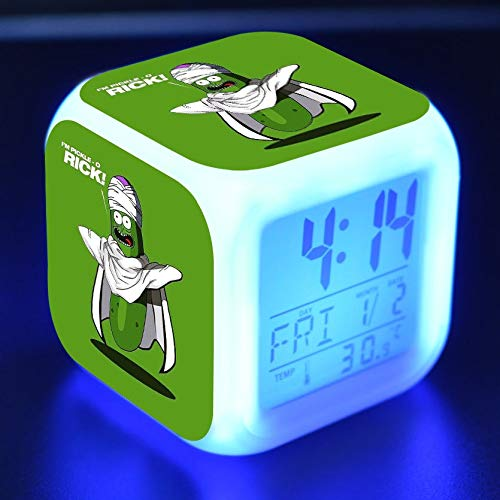 Zhuhuimin 7 kleuren lichtgevende kleine wekker LED kleurflitser digitaal alarm digitaal alarm