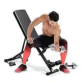 Banco para sentarse, taburete plegable, banco de pesas ajustable con cordón, peso plegable, banco de pesas para...