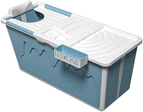 ZGYZ Bañera Plegable, Cubo de baño Antideslizante/bañera para Adultos Cubierta, bañera portátil, PP de remojo para niños, bañera de Viaje, -120 * 53 * 63 cm