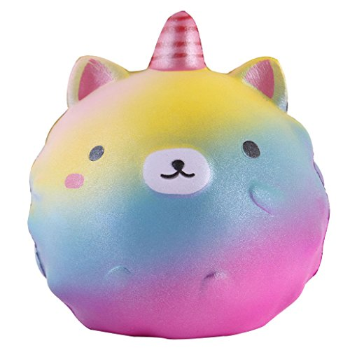 Anboor 4.3 Inches Squishies Unicorn Panda Jumbo Slow Rising Kawaii Scented Soft Colorful Animal Squishies Toys Color Random,1 Pcs