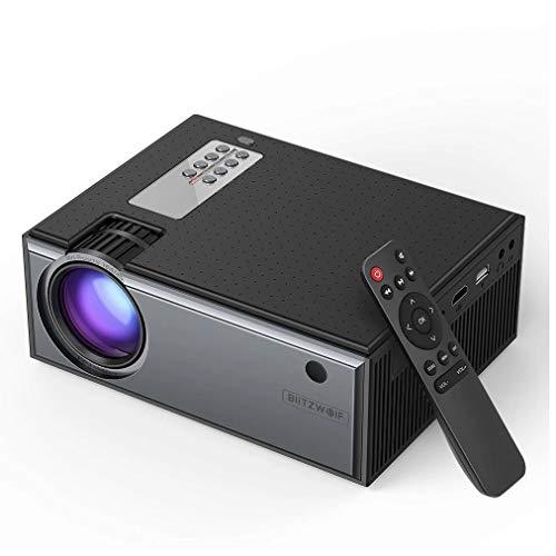 Blitzwolf BW-VP1 LCD-Projektor, 2800 Lumen, 1080P, tragbar, Smart Home Theater Eingang, Fernbedienung mit mehreren Ports