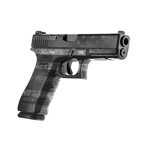 GunSkins Pistol Skin - Premium Vinyl Gun Wrap with Precut Pieces - Easy to Install and Fits Any Handgun - 100% Waterproof Non-Reflective Matte Finish - Made in USA - GS America Grey