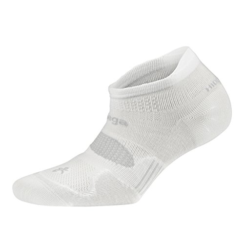 Balega Hidden Dry Moisture-Wicking Socks For Men and Women (1 Pair), White, Medium