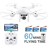 Solid Moxie S163 WiFi FPV Drone with Camera for...