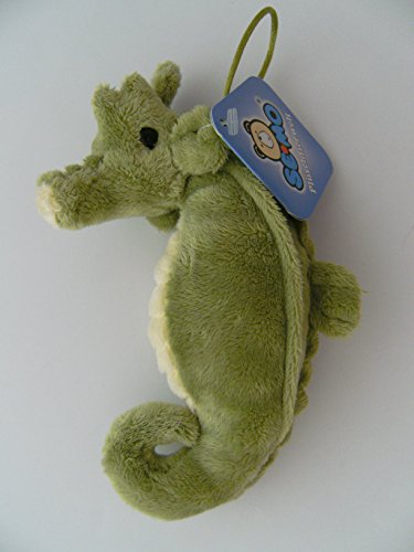 Unbekannt Stofftier Seepferdchen 15 cm, grün, Seepferd Plüschtier Kuscheltier