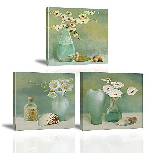 Cuadro Sobre Lienzo Imagen Elegante Fiore Bianco nel Vaso Impresión Blanco Flor de Lirio de Cala Pinturas Murales...