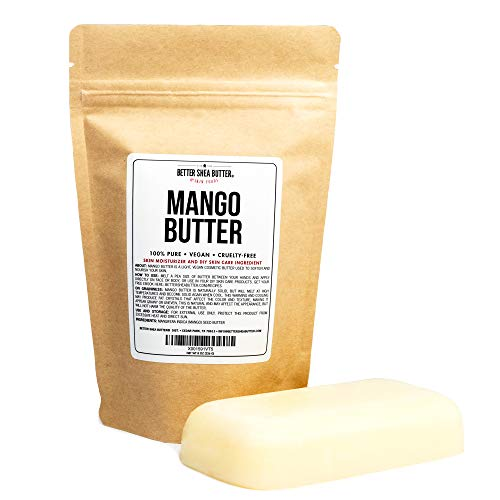 100% Pure Mango Butter - Can Substitute Shea Butter in Soap and Lotion Recipes - Moisturizing, Scent-free, Hexane-free - 8 oz by Better Shea Butter Better Shea Butter