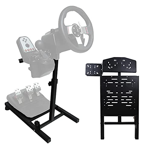 Eilsorrn Racing Steering Wheel Stand Foldable Height Adjustable Gaming Wheel Stand for Logitech,Thrustmaster,Xbox,Playstation,PC Platform(Wheel&Pedals Not Included)
