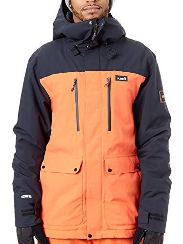 Planken Mens Goede tijden Geïsoleerde Ski Sneeuw Jas Oranje Medium