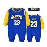ZGRNB Sportfan Baby Basketball Trikot NBA Jumpsuit Creepers Stephen Curry 30 Lebron Raymone James 23 Chicago Bulls 23 Kobe Bean Bryant 24 Strickjacke Strampler S-XXXL