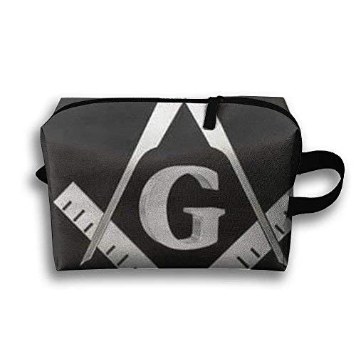 SO27Tracvel Cool Freemason Logo Toiletry Bag Dopp Kit Tactical Bag Accessories Travel Case