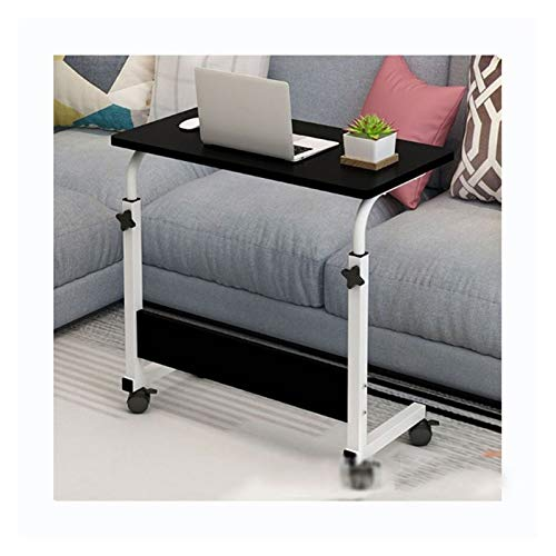 Laptop Cart Over Bed Table With Castors And Height Adjustable Top Foldable Laptop Stand FFFF (Color : 80 * 40 black)