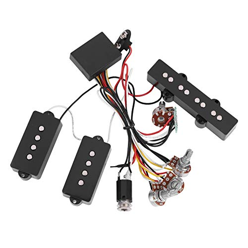 【𝐄𝐚𝐬𝐭𝐞𝐫 𝐏𝐫𝐨𝐦𝐨𝐭𝐢𝐨𝐧 】 Bass Pickup Guitar Wiring Harness Electric Bass Preamp Wiring Circuit Pickup Replacement Accessory for Bass Guitar Active Equalizer