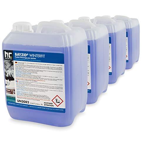 Höfer Chemie 4 x 5 L Pool Wintermittel - BAYZID Winterfit Überwinterungskonzentrat für Schwimmbad und Pool