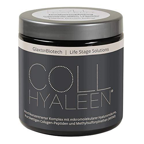 Collhyaleen® Gelenk Nahrungsergänzung mit Hyaluronsäure Vegan MSM Kollagen Hochdosiert I Gelenke Komplex Pulver MSM Hyaluron Collagenpulver I 180g Gelenk Supplement