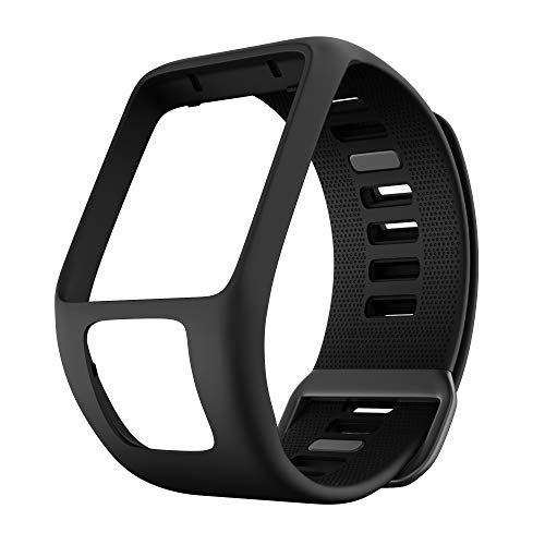 ANCOOL Compatible with Spark 3 Watch Bands Silicone Watch Straps Replacement for Runner 2 3,Spark 3, Golfer 2,Adventurer Smartwatches (Black)