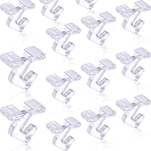25 Pieces Clear Drop Ceiling Hooks Polycarbonate Ceiling Hanger T-Bar Track Clip Suspended Ceiling Hooks for Hanging Plants Office Signs Decorations