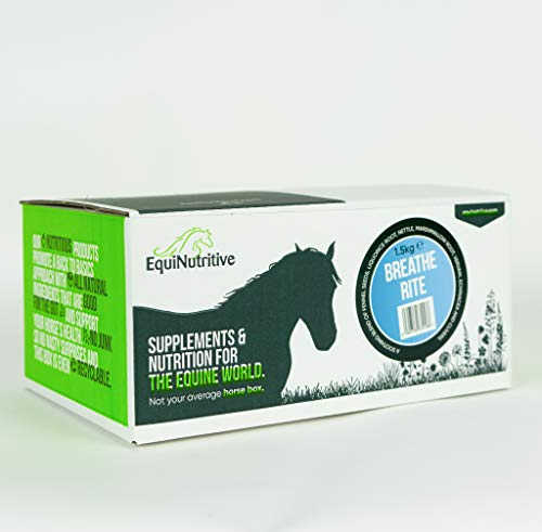 EquiNutritive Breathe Rite Natural Respiratory Support Supplement for Horses and Ponies – 1.5kg (100% Natural, 7 Herb Blend – Airway Breathing Aid – No Added Sugar)