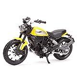 Maquetas de Coches 1:18 Ducati-Scrambler Static Die Cast Vehículos Coleccionables Pasatiempos Motocicleta Modelo Juguetes