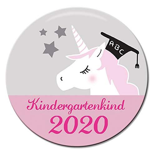 Polarkind Button Pin Anstecker Geschenk Kindergartenkind 2020 38mm Handmade Einhorn Kita Kiga