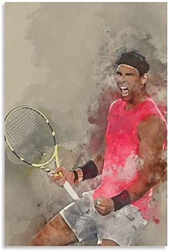 TANXM Lienzo Posters 60x80cm Sin Marco Jugador de Tenis Rafael Nadal Cartel decoración Sala de Estar decoración del hogar Dormitorio